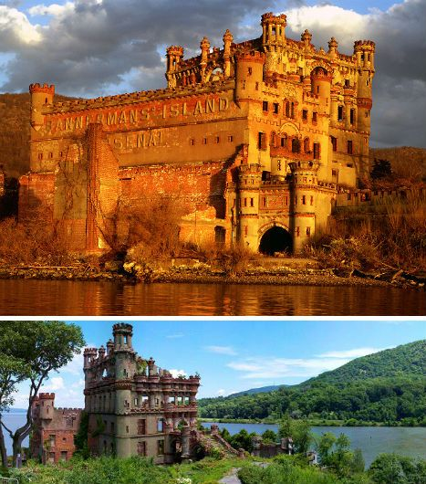 The skeletal remains of a beautiful castle on the Hudson River, 50 miles north of New York City, are littered with the burned and rusting remains of an eccentric Scotsman's collection of Civil War weapons. Bannerman Castle can be found on the island of the same name. The island was initially established as a military prison by General George Washington during the Revolutionary War, and purchased by Frank Bannerman in 1900.