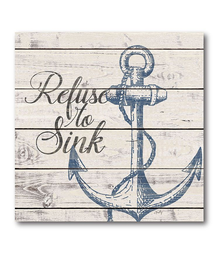 'Refuse to Sink' Wrapped Canvas