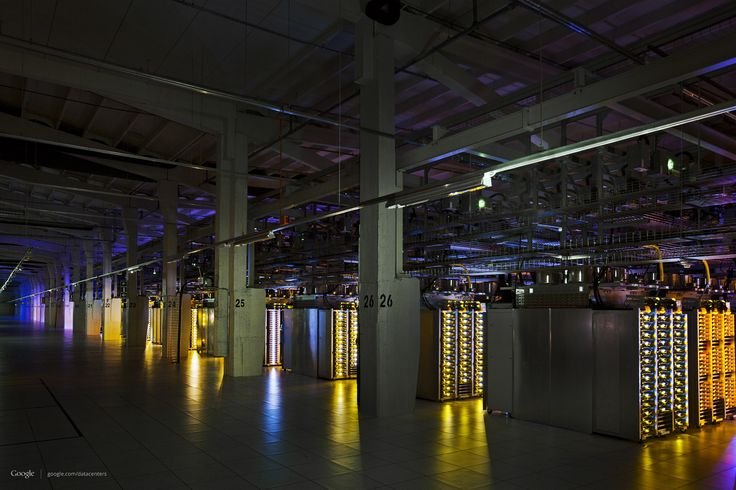 Google Data Center: LEDs Make Everything Look Cooler