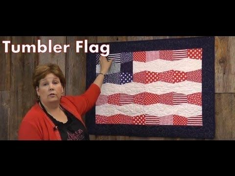 Perfect for the 4th of July! The Tumbler Flag by Jenny Doan of the Missouri Star Quilt Company!