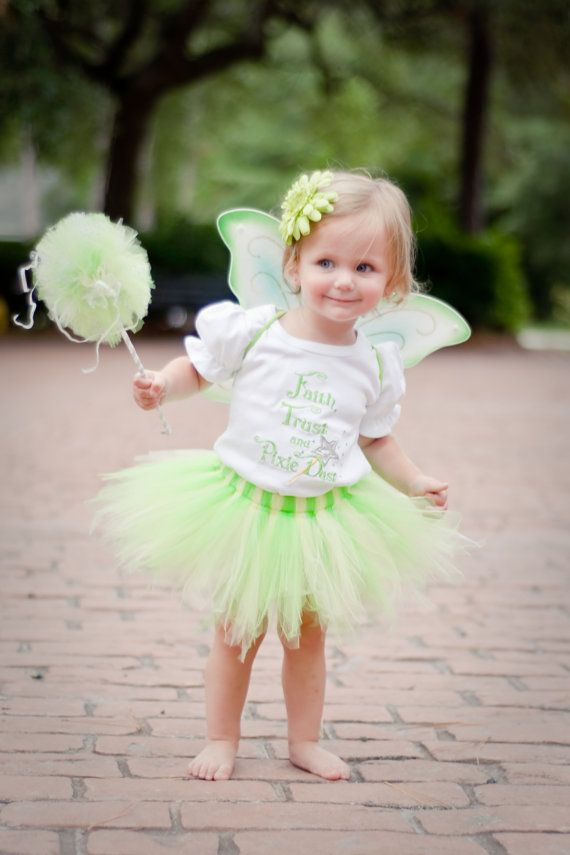 Tinkerbell Inspired Tutu Outfit  Halloween Costume by AddieKatShop, $59.50