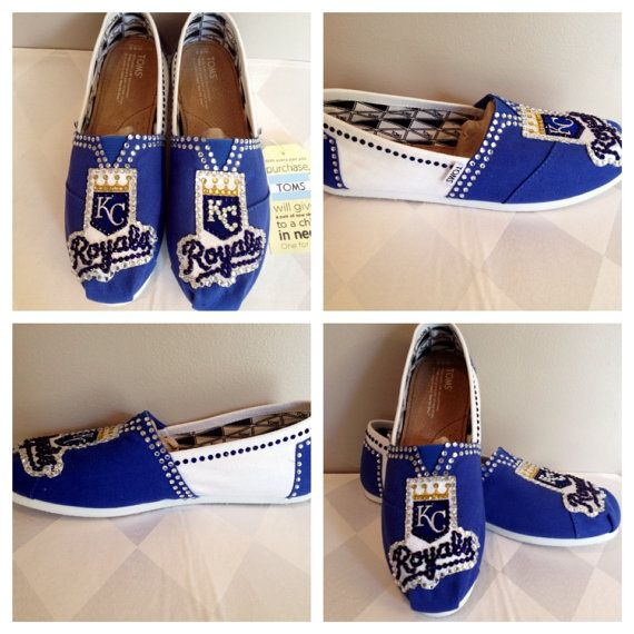 Kansas City Royals Toms custom baseball toms by Blingshoeshop, $130.00