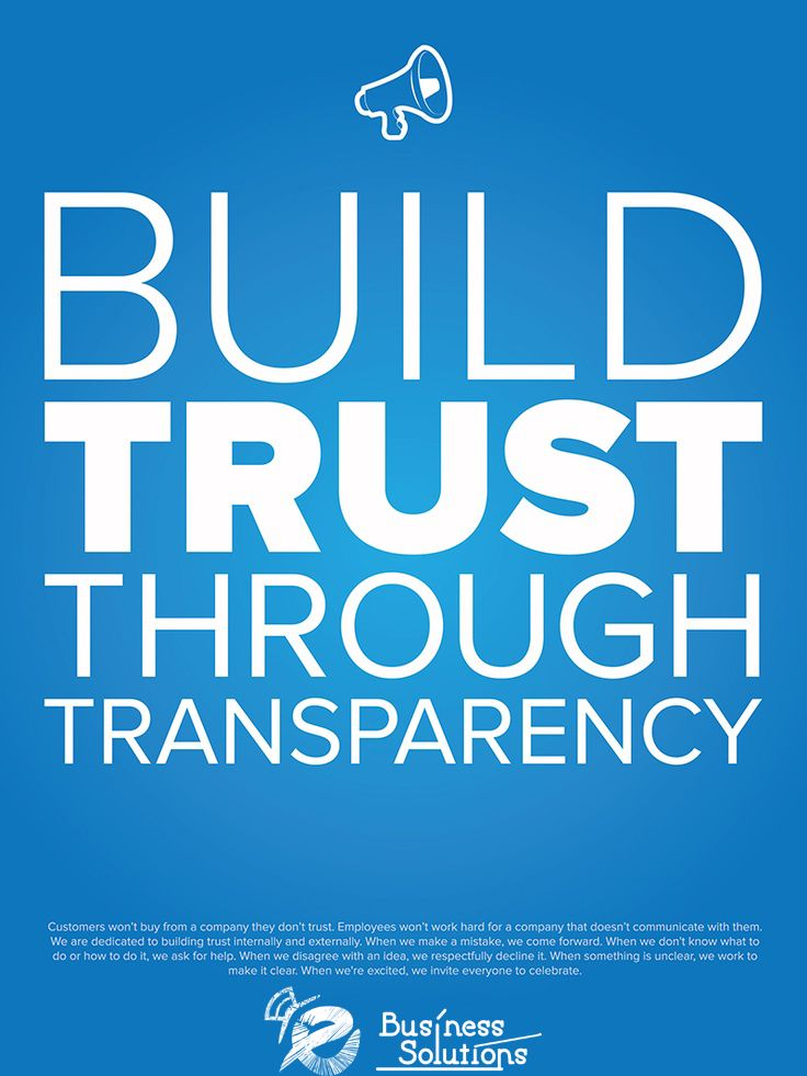 Build Trust Through Transparency one of EBusiness