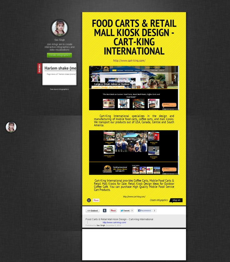 FOOD CARTS & RETAIL MALL KIOSK DESIGN - CART-KING INTERNATIONAL  Cart- King International provides food cart service for sale which also offer mobile Food vendors. Call our Food Carts Experts at 800-215-9293 for more information on www.cart-king.com