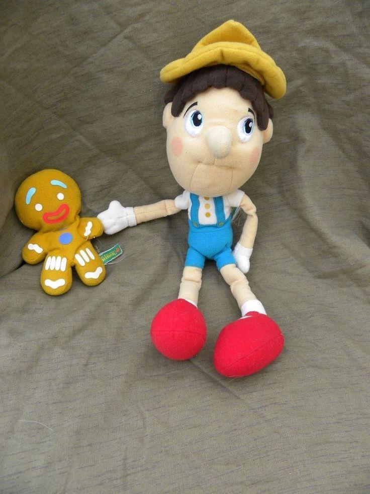 Shrek Pinocchio Plush Doll Gingerbread Man Boy Stuffed