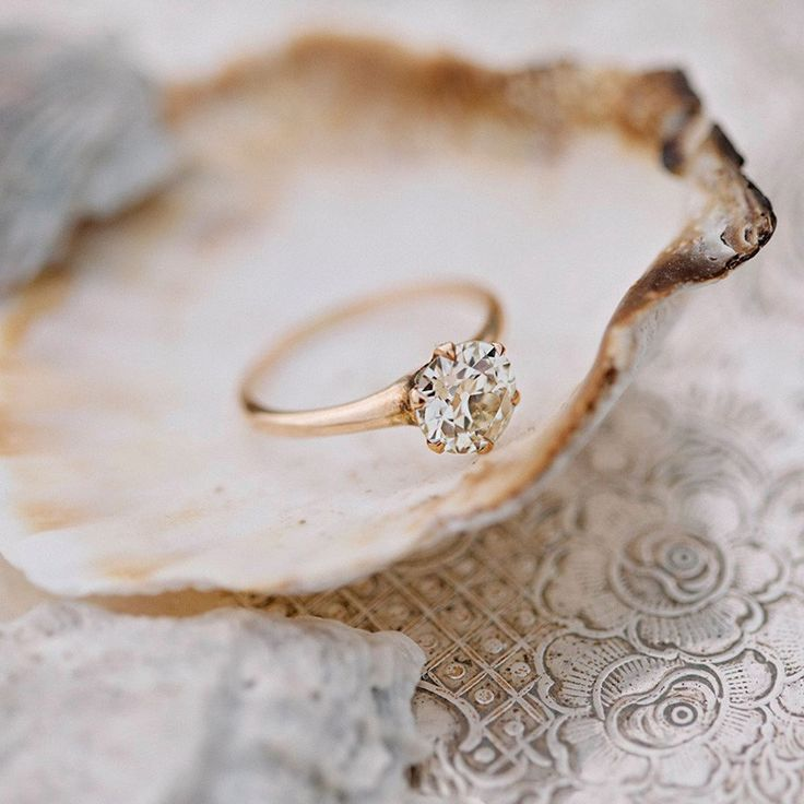 Classic vintage rose gold solitaire diamond ring <3 photo by Abigail Thomas Photography