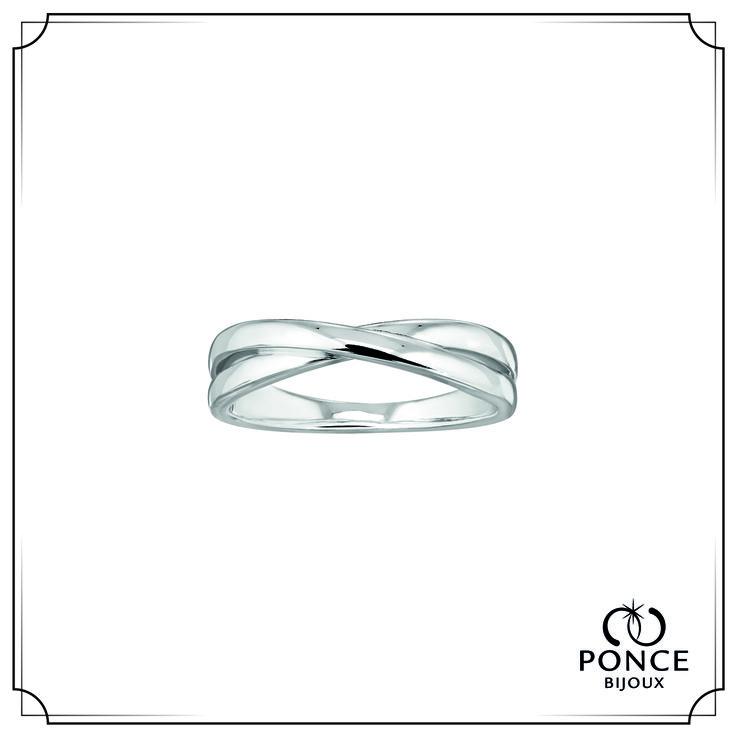Bijoux Ponce, KOKORO, Or gris palladié  Anneaux entrelacés  Existe en Or Jaune, Or Rose, Platine #BijouxPonce #MadeInFrance #mariage #Wedding