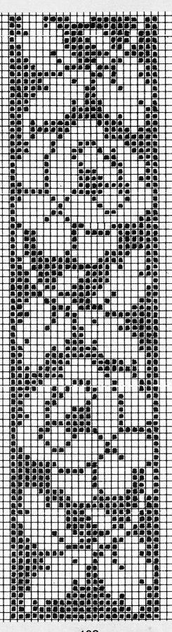 Wild rose insertion pattern. Designed for cross stitch, but it would make a nice filet crochet border. | Вязание | Pinterest | Filet Crochet, Roses and Cross s…