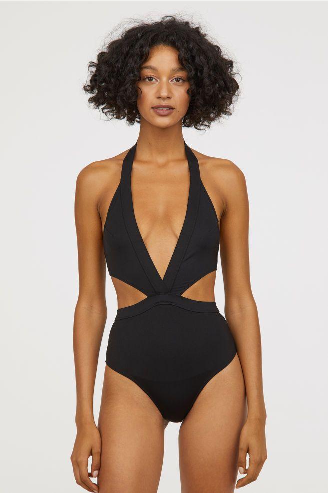 84583b9221471 Cut-out Swimsuit - Black - Ladies