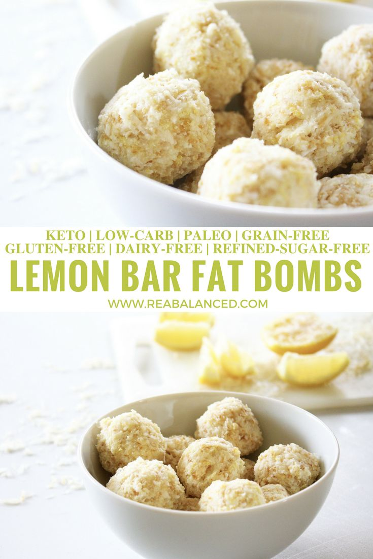 Lemon Bar Fat Bombs: keto, low-carb, paleo, grain-free, gluten-free, dairy-free, and refined-sugar-free!