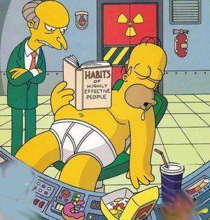 Homer Working Hard