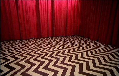 The Red Room.Set design for Twin Peaks by Richard Hoover, recreated after the original concept by David Lynch