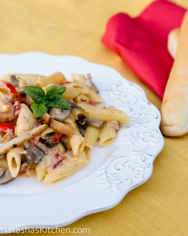 chicken penne rigate alfredo recipe