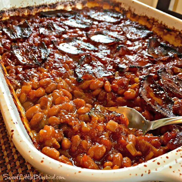 Sweet Little Bluebird: Anastasia's Best-Ever Baked Beans from canned oven or crock pot