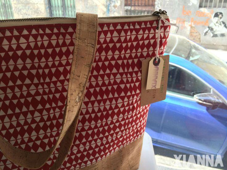 Xianna in Molly Market #coam #madrid #ecofriendly #organiccotton #cork #tribal #enchantedforest #veganbags #veggie #handmadebags #baglovers