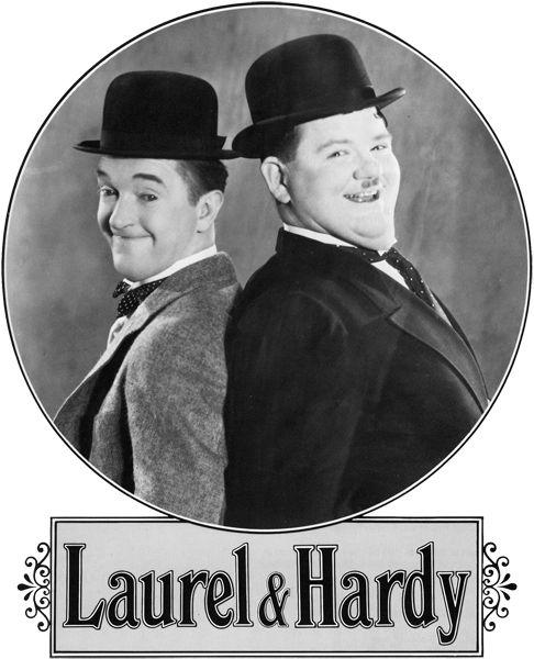 """Werd eindeloos herhaald en omdat het begrijpbare slapstick was als kind al te volgen.   Stanley """"Stan"""" Laurel (born Arthur Stanley Jefferson, 16 June 1890 – 23 February 1965) and Oliver """"Ollie"""" Hardy (born Norvell Hardy) January 18, 1892 – August 7, 1957)"""
