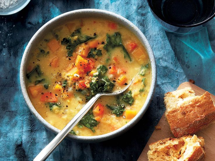 On cold winter nights, a hearty bowl of red lentil coconut-miso soup will warm you right up. Find it, and other weeknight recipes at Chatelaine.com