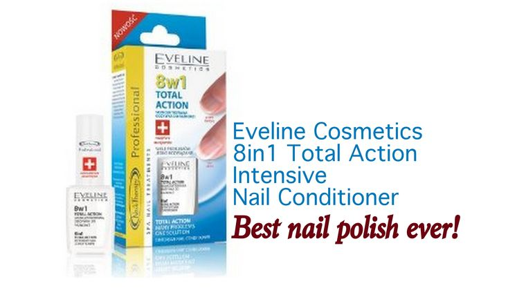 Most of us struggle with our nails and how to keep them from breaking and make them stronger. Eveline 8in1 Total Action Nail Conditioner truly helps.
