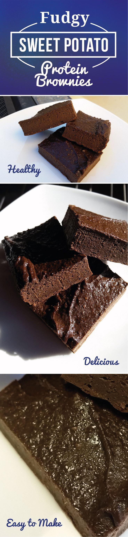Snackworthy & Fudgy Sweet Potato Protein Brownies