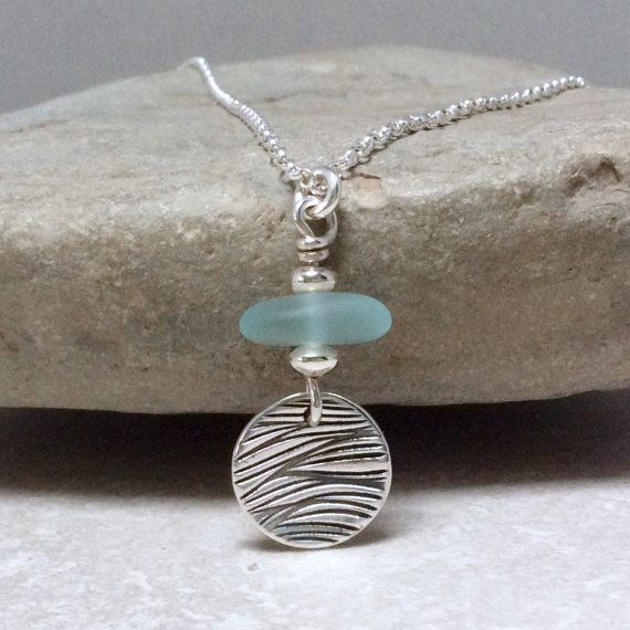 Handmade beach jewellery sea glass jewellery by BlueRockJewellery