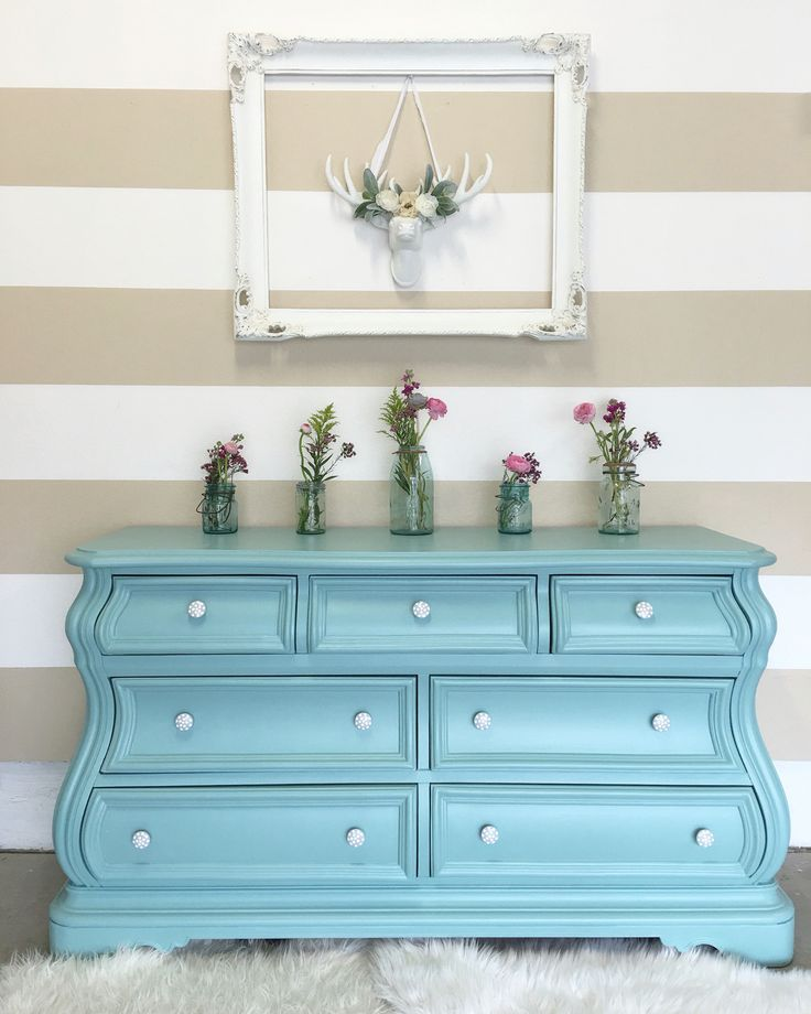 Annie sloan chalk paint in provence with a bit of old for Furniture 0 interest