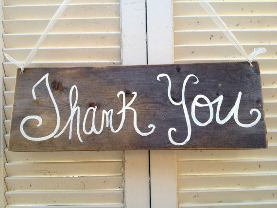 Rustic Weathered Wood Thank You Sign by SassySouthernCharm, $15.00