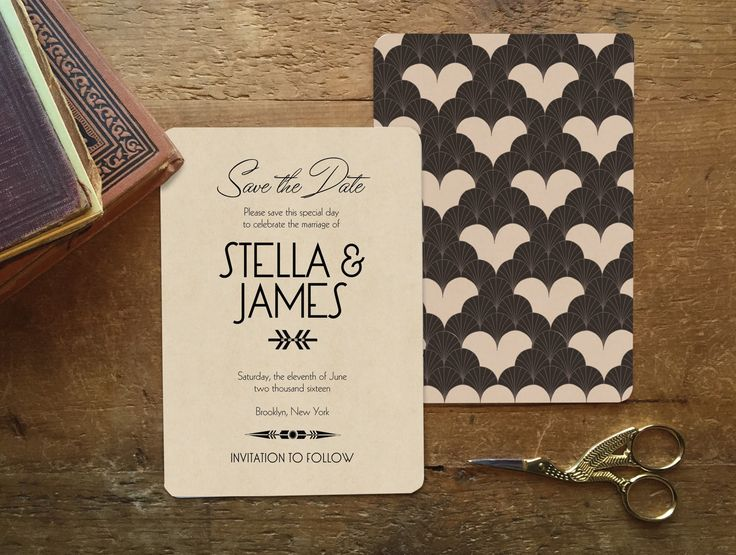 save the date deco wedding art deco save the date save the dates heart invitation art deco wedding deco wedding invitation