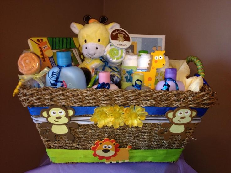 Baby boy gift basket
