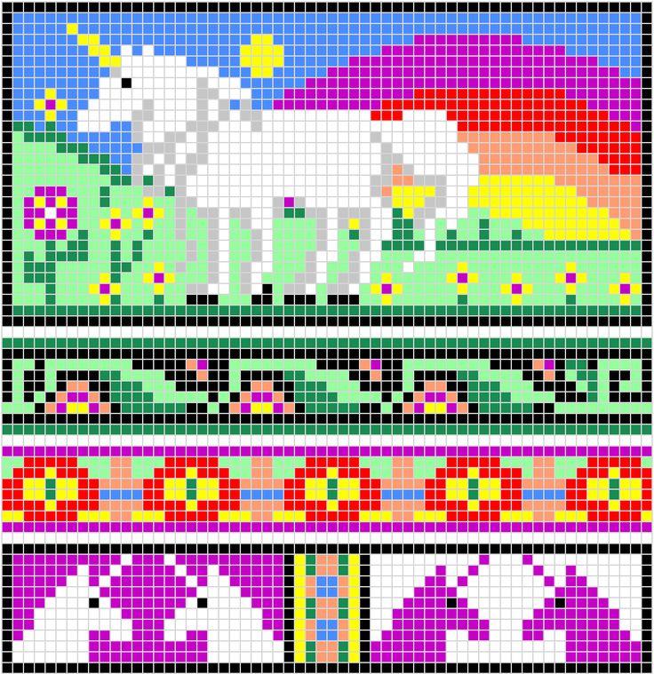 pixel: Knits Charts, Charts Features, Beads Patterns, Beads Unicorns, Witchwolfweb Creations, Crochet Crafts, Crosses Stitches, Unicorns Charts, Crochet Charts