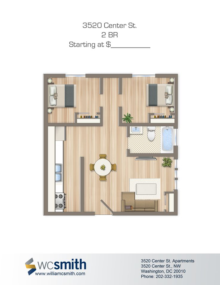 two bedroom floor plan alpha house apartments in northwest dc wc