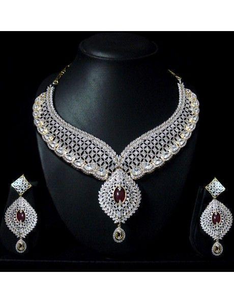 Indian Diamond Necklace Sets