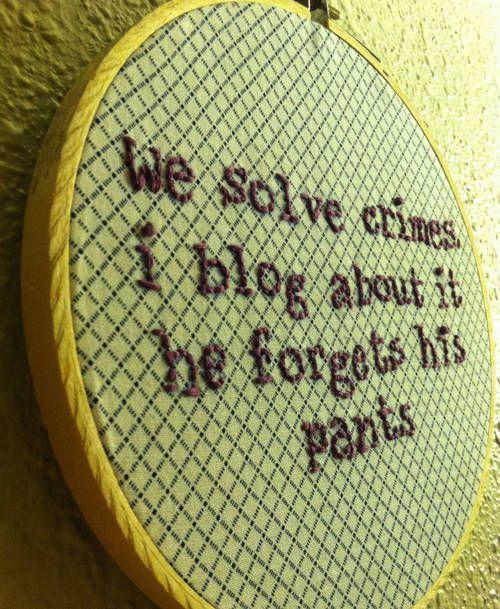 Knitting Embroidery Lessons : Bbc sherlock s forgot his pants needlework knitting