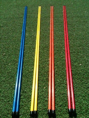 Golfnsticks Golf Alignment Sticks (2-pack) Alignment Rods are the #1 Golf Training Aids among tour players! Choose Your Favorite Color! (blue) by Golfnsticks. $13.95. THESE STICKS ARE A GREAT LOW COST TRAINING TOOL FOR All GOLFERS.  ALIGNMENT STICKS CAN BE USED FOR DOZENS OF TRAINING DRILLS, IE. ALIGNMENT, BALL POSITION, SWING PLANE, PUTTING DRILLS, TARGET MARKERS, AND MANY MORE.   WHEN FINISHED, THEY FIT PERFECTLY INSIDE YOUR GOLF BAG JUST AS IF THEY WERE ANOT...
