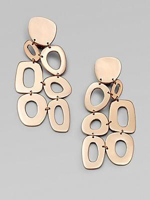 From the IPPOLITA Rose Mosaico Collection. Large multi-shape chandelier earrings. IPPOLITA Rose is a unique alloy of 18k gold and sterling silver, plated with 18k rose gold. Drop, about... More Details