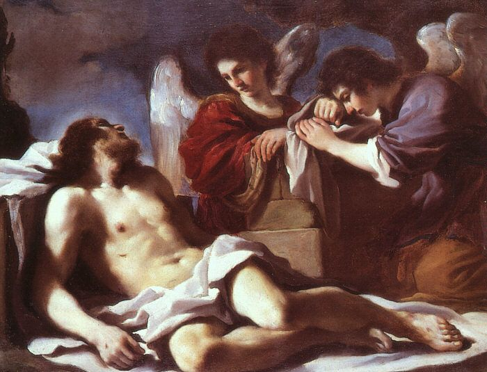 Guercino, Angeli piangenti sul Cristo morto (1618), Londra, National Gallery