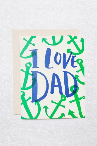 Father's Day is Sunday 6 Augsut in Australia 2015. #fathersday Hello Lucky - Single Card - I Love Dad