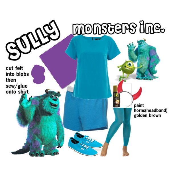 DIY halloween costume: Sully by caitycait19 on Polyvore featuring Dorothy Perkins, Vans and INC International Concepts