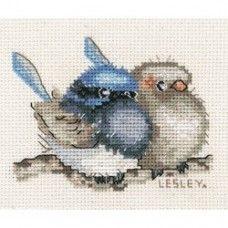 Lesley Suzanne Davies Small Blue Wren Cross Stitch Kit