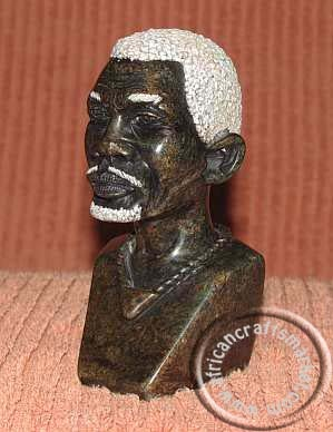 African Stone Shona bust