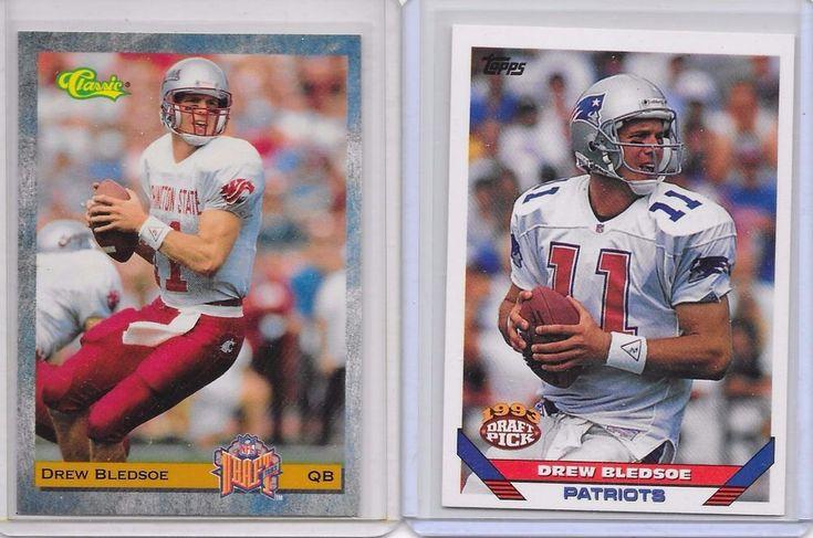 Drew Bledsoe New England Patriots Rookie 2 Card Lot #NewEnglandPatriots