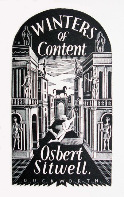Title page by Eric Ravilious for 'Winters of Content' by Osbert Sitwell, 1932 (wood engraving)