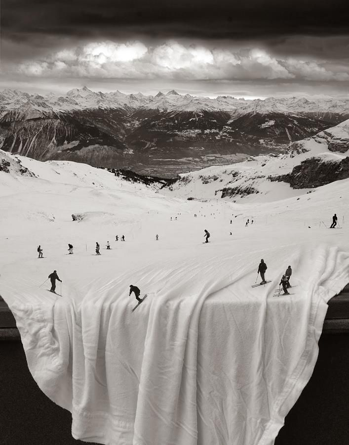 Surreal Photo Manipulations by Thomas Barbéy  #photoshop #composing #skiing #photomanipulation <<< repinned by www.BlickeDeeler.de | Follow us on #Facebook > www.facebook.com/BlickeDeeler