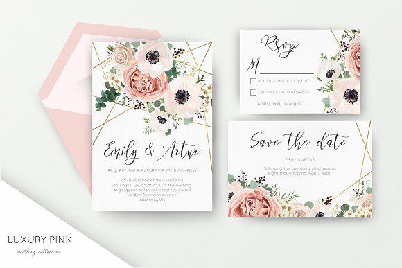Wedding Collection Luxury Pink Wedding Cards Wedding Invitations Invitations