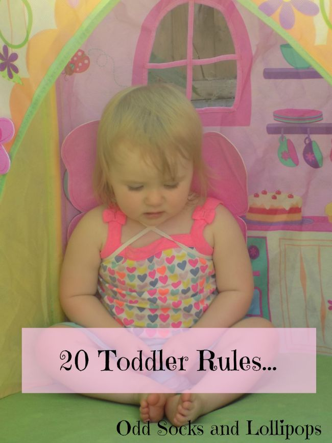 20 toddler rules - sharing 20 rules I have discovered my toddler lives by...