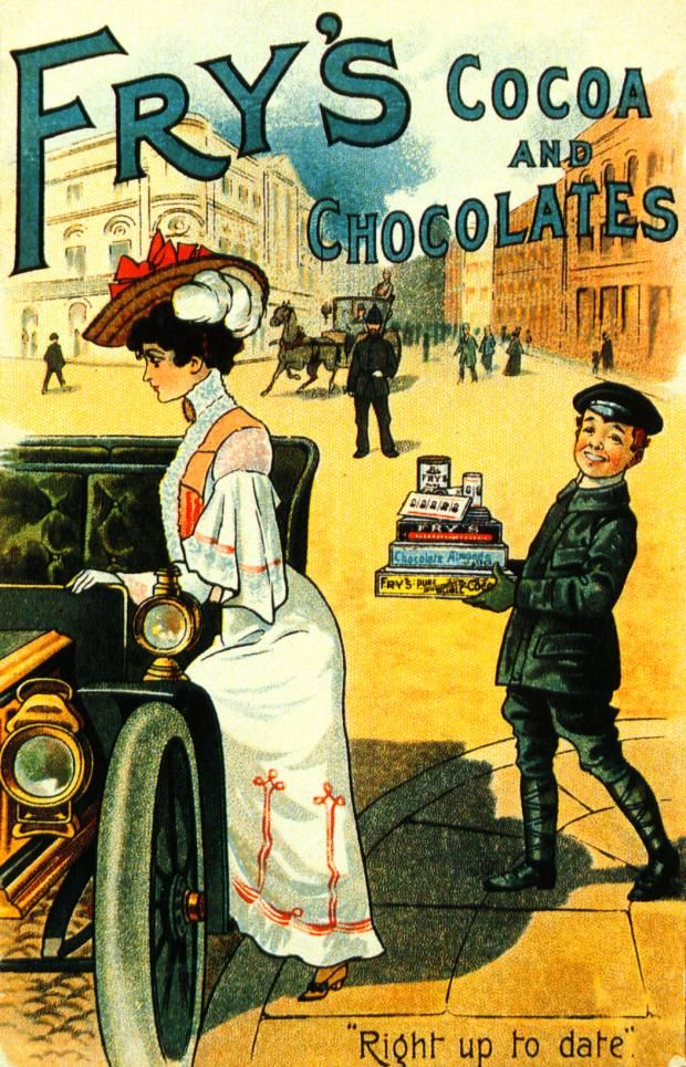 Frys chocolates - Joseph Fry opened a sweet shop in Small Street, Bristol in 1756. The business was so successful that chocolate factories were built in Broadmead (now the city's main shopping centre).