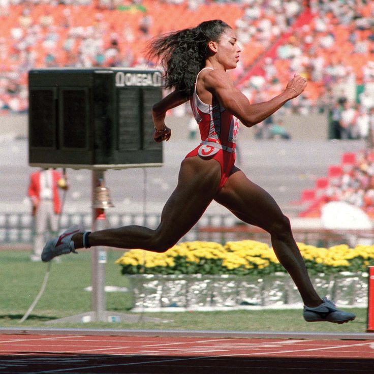 """""""When anyone tells me I can't do anything, I'm just not listening any more."""" -Florence Griffith Joyner // Olympic Inspiration"""