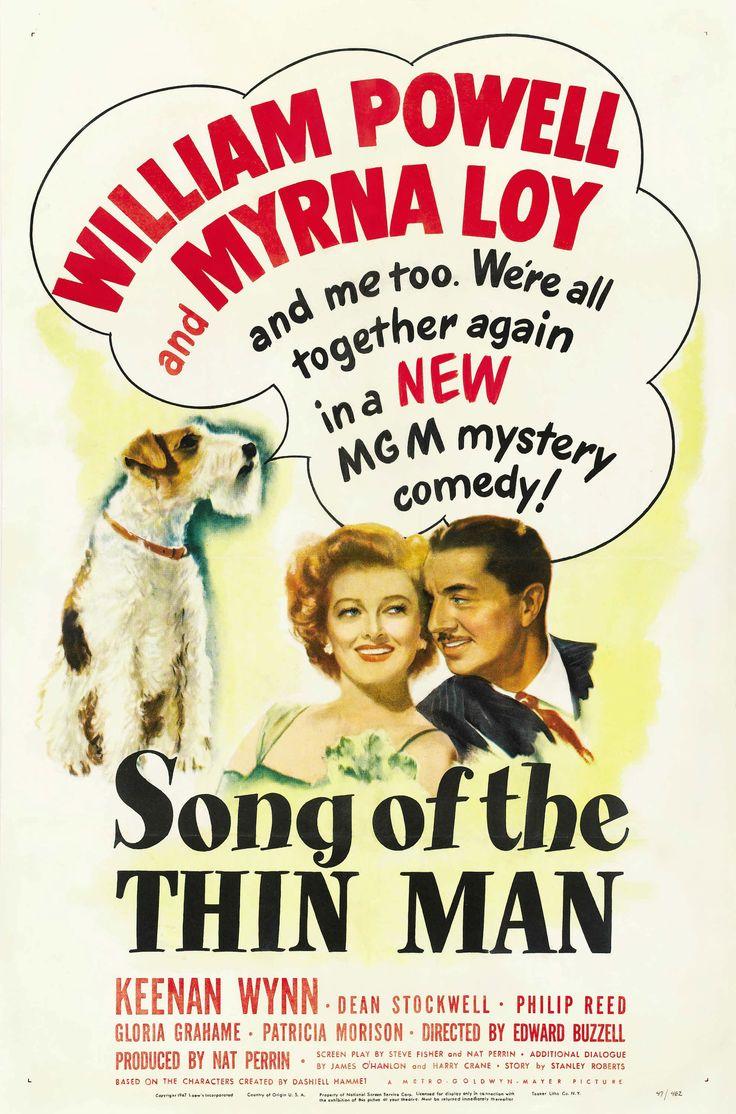 Song of The Thin Man (1947) William Powell, Myrna Loy, Keenan Wynn