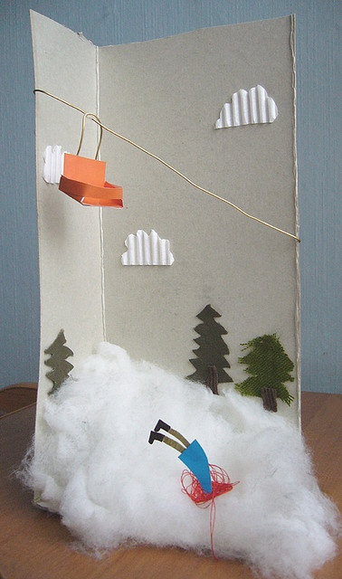 Silly snow themed sculpture.