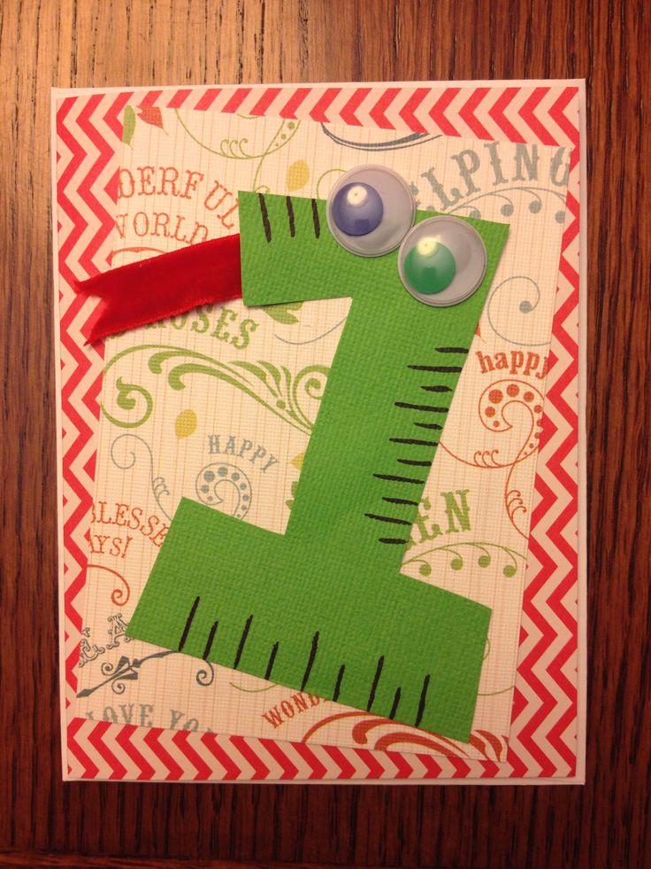 Baby Adam's first birthday card - handmadewithlove
