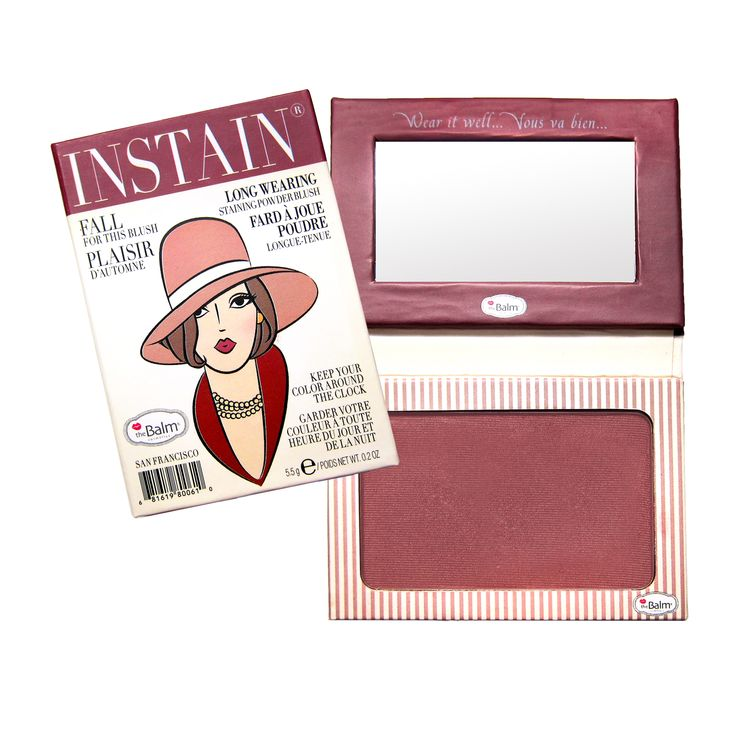 Long-Wearing Powder Staining Blush theBalm's long-wearing, STAINING powder blush is a fashion must have! Perfect for all seasons and skin tones, theBalm INSTAIN will give...